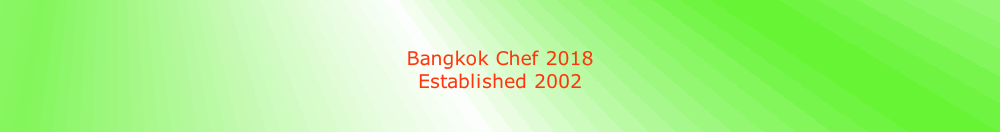 Bangkok Chef 2018
